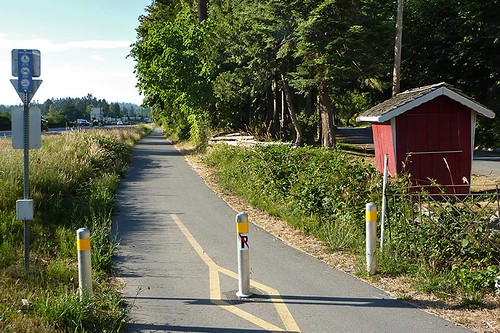 Lochside Trail in Central Saanich, Saanich Peninsula, Victoria, Vancouver Island, British Columbia, Canada