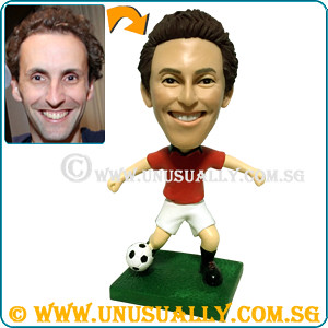Custom 3D Male Soccer Figurine - © www.unusually.com.sg
