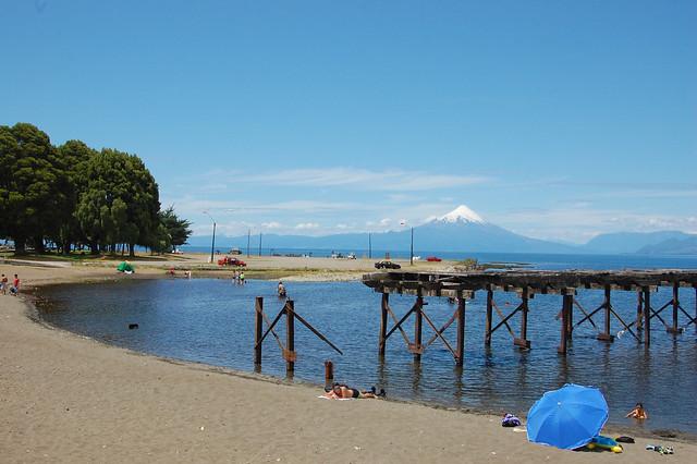 Volcán Osorno over Lago Llanquihue, from Llanquihue, Los Lagos, Chile