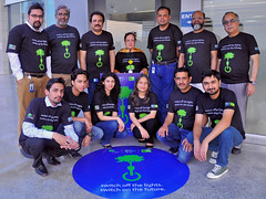 Engro Green Office Team and Dolmen Team join hands for awareness of earth hour 2016