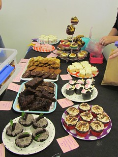 Bake sale table