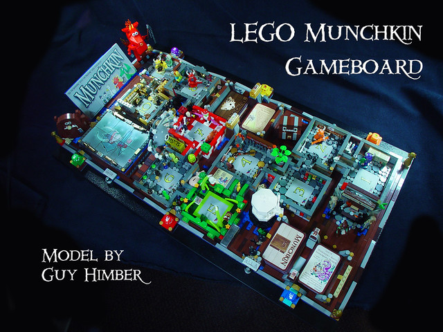 Munchkin LEGO Gameboard version 2 by Guy Himber