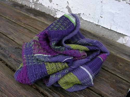 waffle weave shawl