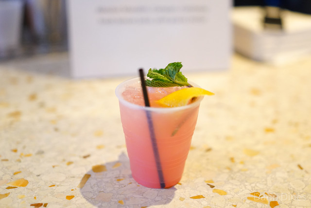 Monkey Shine absolut mandarin, campari, cointreau, lemon juice, pink guava