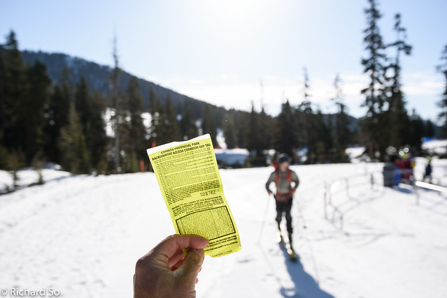 Backcountry access ticket