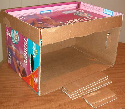 How to: No Sew Fleece Cube / Box Shelf 26234621781_532d4fe4c4