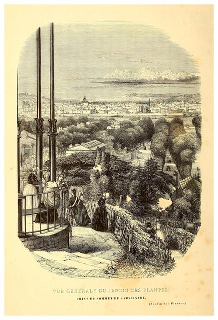 004-Vista general del Jardin de Plantas-Le Jardin des plantes description et murs des mammifères..1842-Pierre Boitard