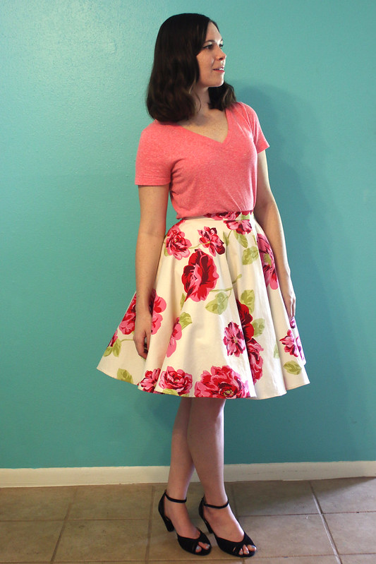 Skirt with large Crinoline Petticoat