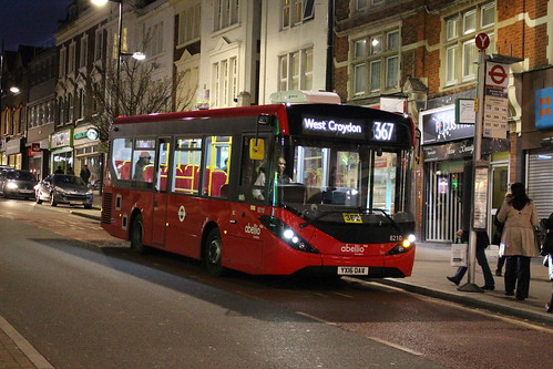Abellio London 8210 on Route 367, Bromley South