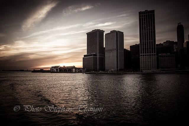 Wall street dusk