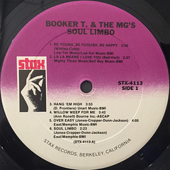 BOOKER T. & THE M.G.'S:SOUL LIMBO(LABEL SIDE-A)