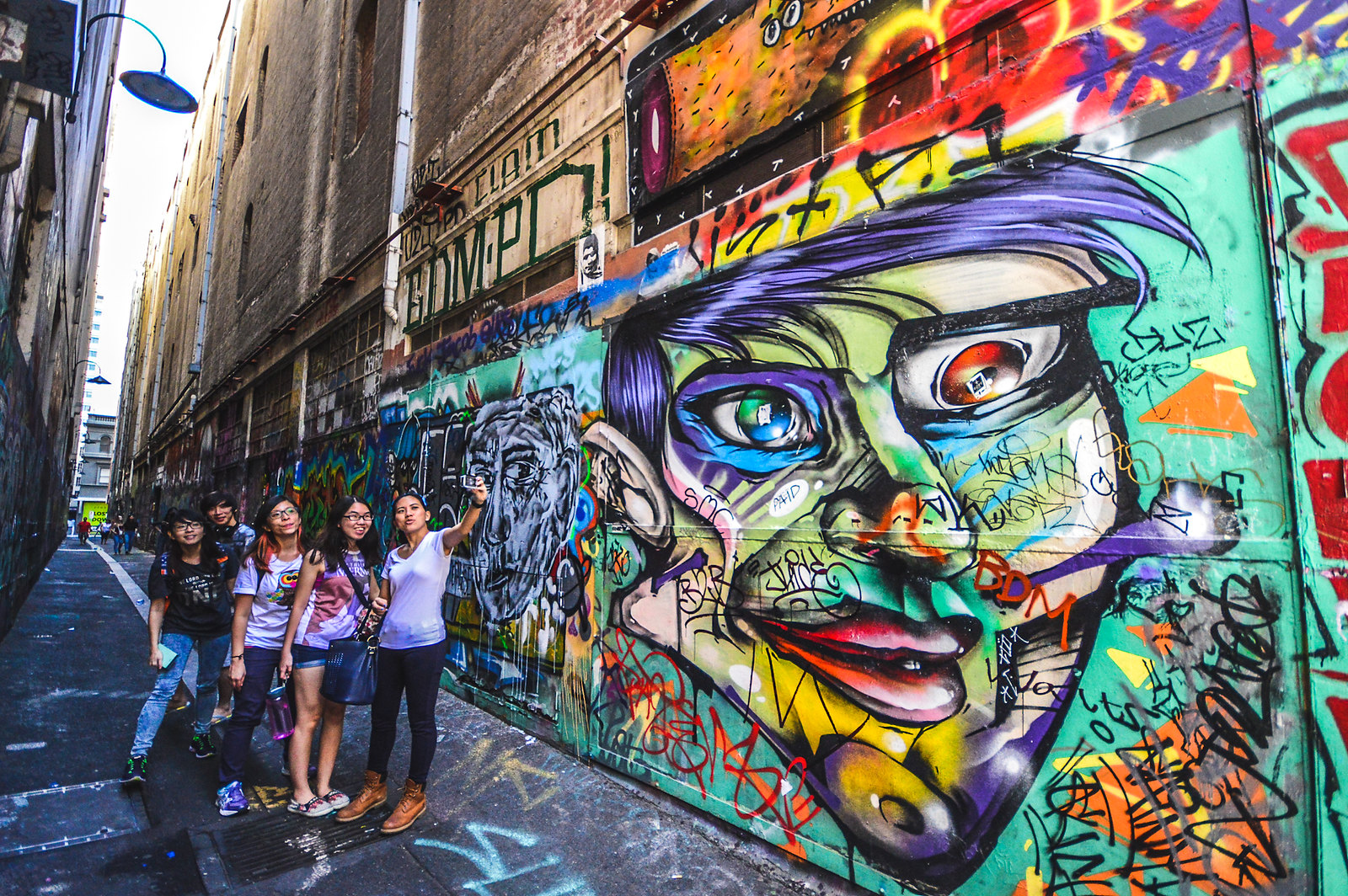 Melbourne Union Lane Street Art 2015