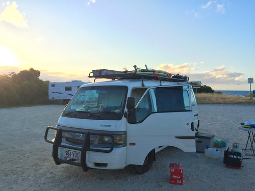 Nachtlager am Strand