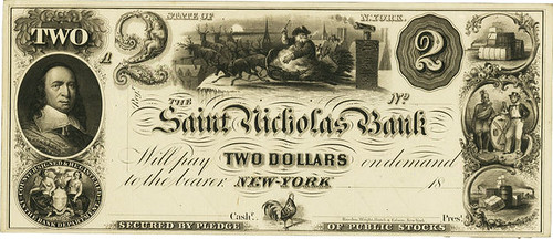 Saint Nicholas Bank $2 note