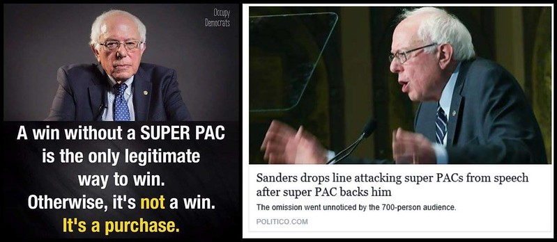 Bernie now has a super pac occupy democrats