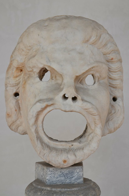 Male comic mask, National Museum of Rome, Baths of Diocletian