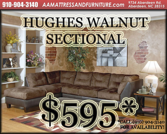 Hughes Walnut Sectional WM