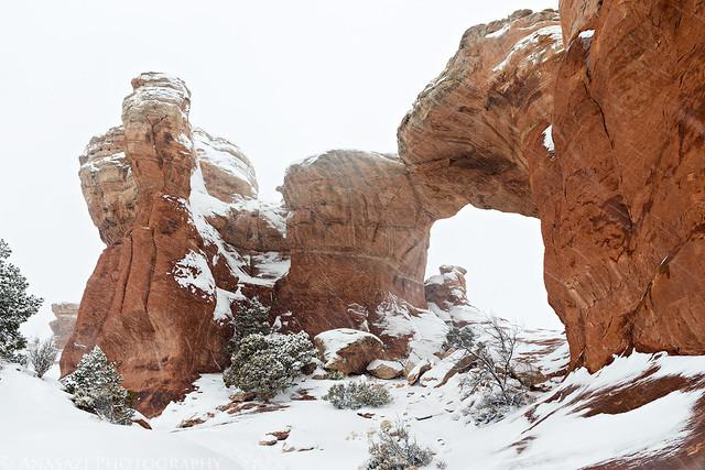 Broken Arch Snowstorm