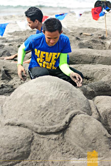 Pawikan Festival Bataan Sand Sculpture