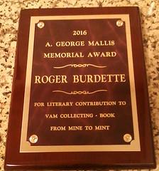 Mallis Award From Mine to Mint