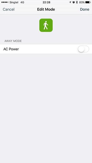 tado iOS App - Smart Schedule - Modes - Away Mode