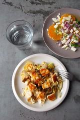 Endive Salad w/ Halloumi Cheese