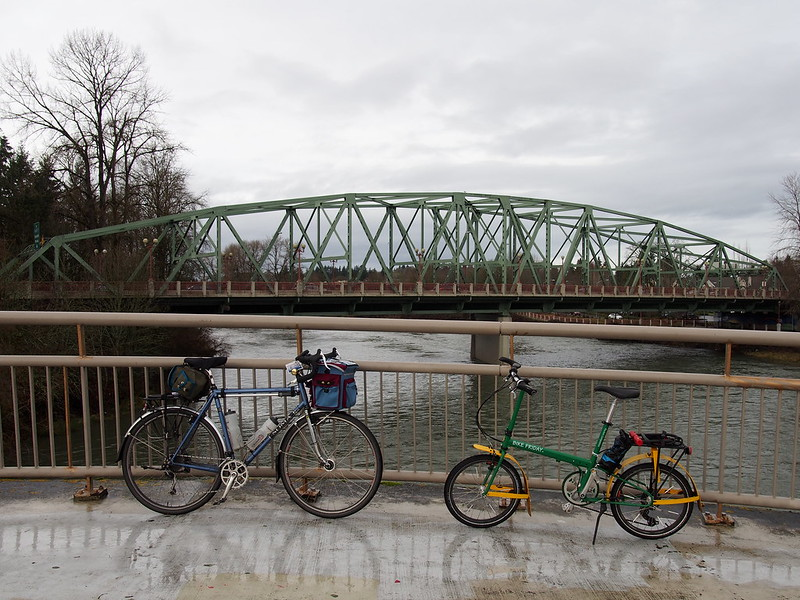 Bikes on the Peter DeFazio Bridge