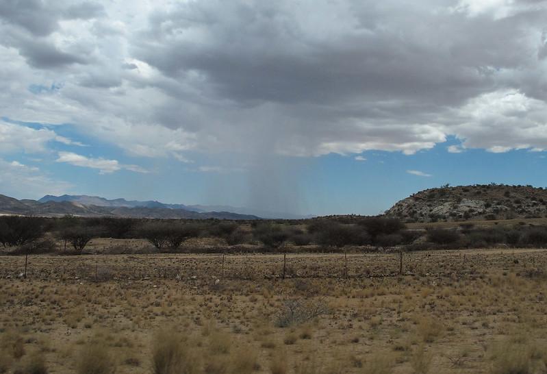 A rain in desert