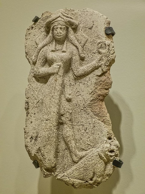 Plaque depicting the goddess Ishtar Babylon (modern Iraq) 2nd Millennium BCE Clay