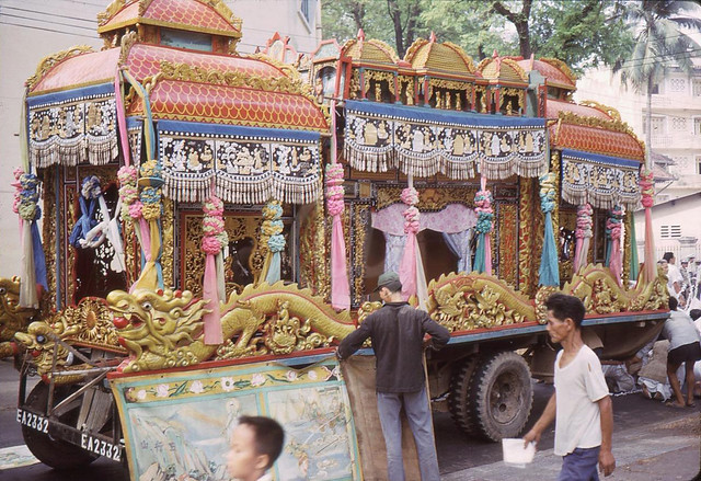 Chinese Funeral Carriage in Saigon 1960s