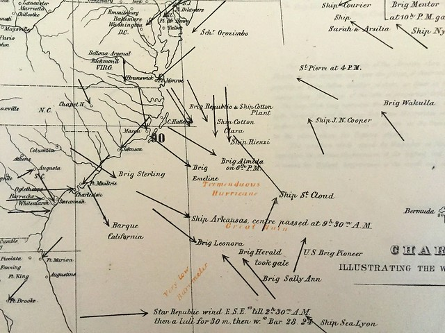 espy map october 6 1844 detail