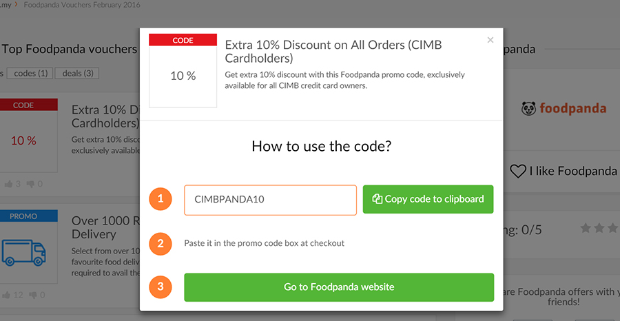 Foodpanda Online Food Delivery with Picodi.my Discount Codes