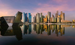 Sunrise on Marina Bay
