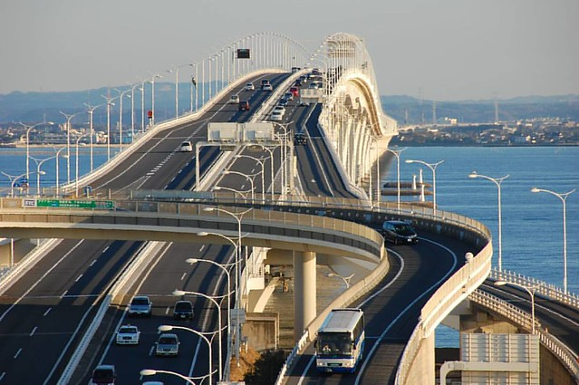 The Tokyo Bay Aqua-Line, also known as the Trans-Tokyo Bay Highway, is a bridge–tunnel combination across Tokyo Bay in Japan.