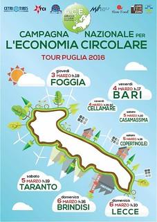 Il Tour Puglia 2016 della Campagna nazionale per l'economia circolare
