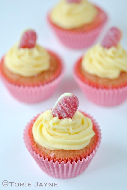 Gluten Free Rhubarb & Custard Cupcake Recipe 4