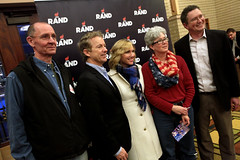 Rand Paul & Thomas Massie with supporters