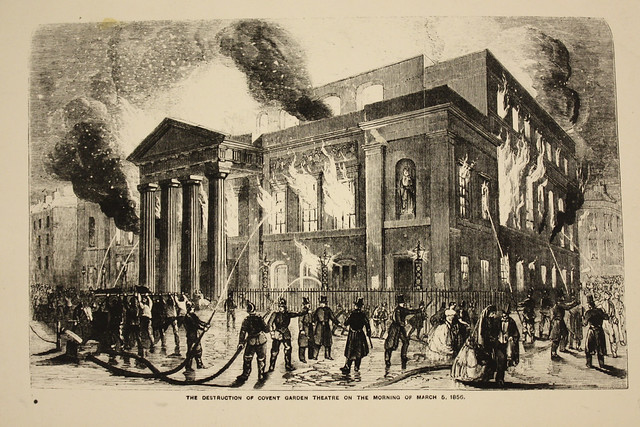 The destruction of Covent Garden Theatre on the morning of 5 March 1856