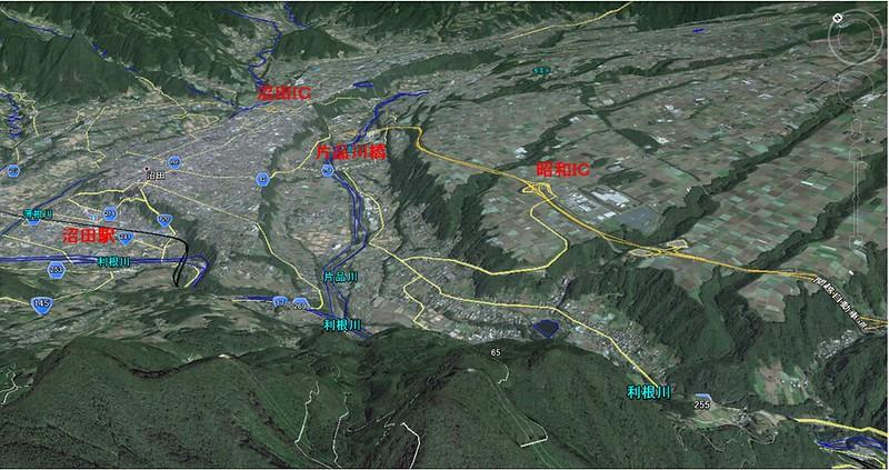 関越道と沼田ダム