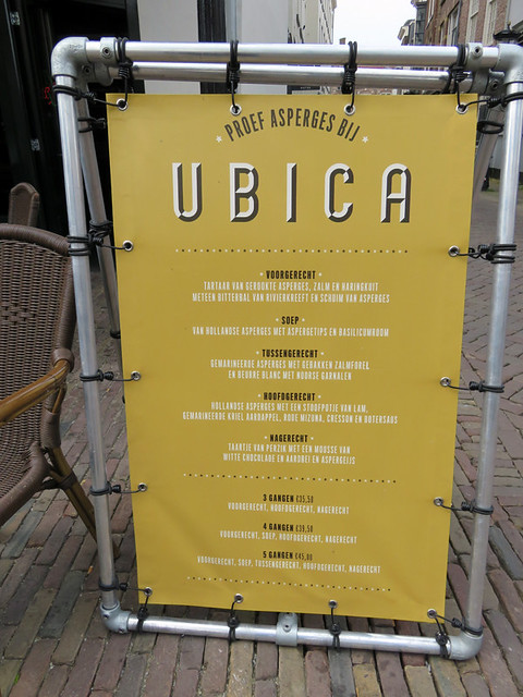 Sign at the Ubica Pub in Utrecht, Holland