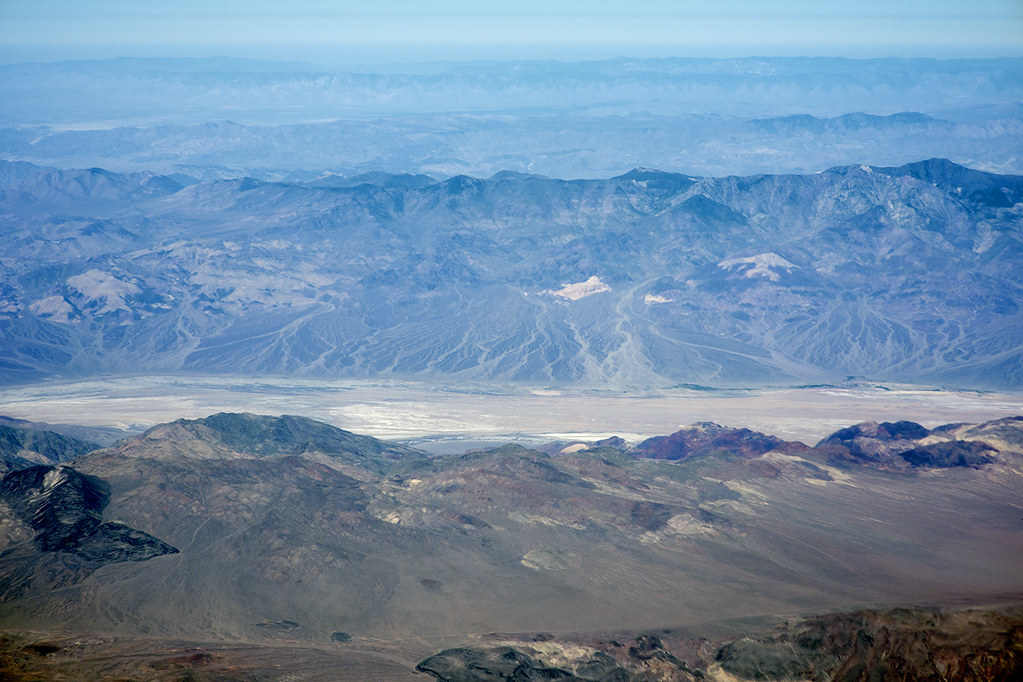 Aerial view of Death Valley south of Badwater, Inyo County, California
