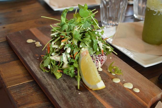 Raw vegetable patty