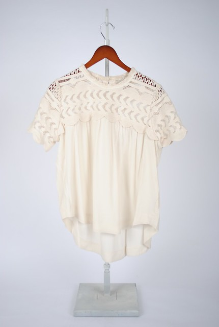 Mixed Lace Trim Tee