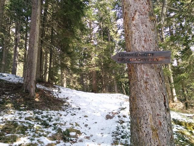 Abzweigung Lachwiesenhütte