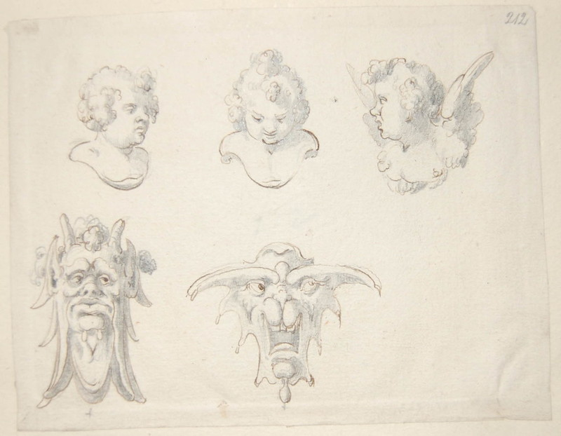 Arent van Bolten - Monster 212, from collection of 425 drawings, 1588-1633