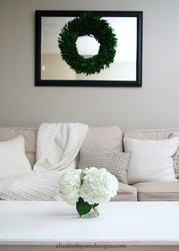 Hydrangeas and Boxwood Wreath Decor
