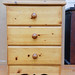 Pine three drawer locker