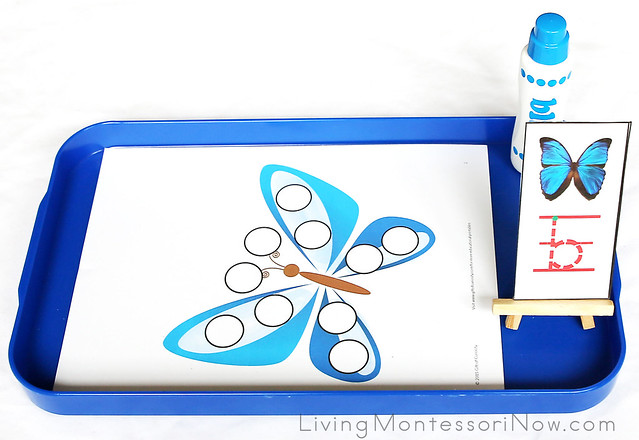 Butterfly Do-a-Dot Tray
