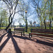 Russia. Moscow. Spring near the Novodevichy Convent.