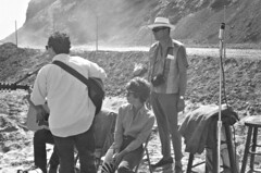Folk group plays at time capsule event, Dana Point, 1966